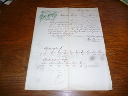FF5  Document Commercial Facture Chr Reiser Lahr Baden 1904 Cartonnagen - Belgique