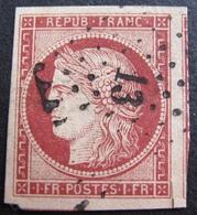 DF50478/56 - CERES N°6 - PC 13 : AIGNAY-LE-DUC (Cote D'Or) Petite Coupure Hors Filet - Cote : 1000,00 € - 1849-1850 Cérès