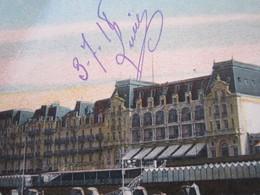 CARTE POSTALE CALVADOS CABOURG CASINO GRAND HOTEL 1918 - Cabourg