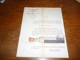 FF5  Document Commercial Facture Renouard Larivière Paris 1904 Eau Des Carmes Boyer - Belgique