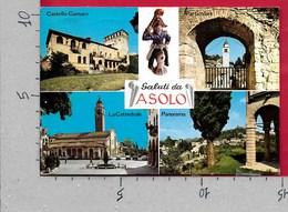CARTOLINA VG ITALIA - Saluti Da ASOLO (TV) - Vedutine Multivue - 10 X 15 - ANN. 1977 - Saluti Da.../ Gruss Aus...