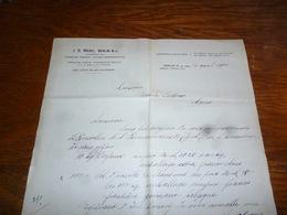 FF5  Document Commercial Facture JD Riedel Berlin 1904 - Belgique