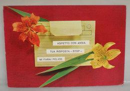 Fiori  Telegramma D'amore Cartolina 1974 - Flowers