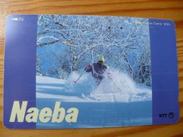 Phonecard Japan 271-064 Naeba - Japan