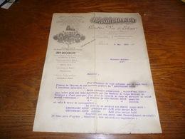 FF5  Document Commercial Facture Peptonate De Fer Robin Gouttes Vin Elixir Paris 1902 - Belgique