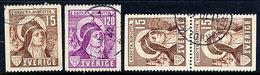 SWEDEN 1941 550th Anniversary Of St. Birgitta Complete Used.  Michel 288-89A + 288 Dl/Dr - Sweden
