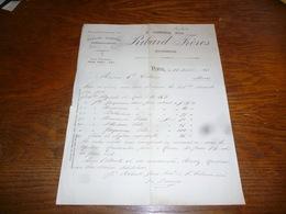 FF5  Document Commercial Facture  Ribard Frères Nimes 1903 Graines Essences - Belgique
