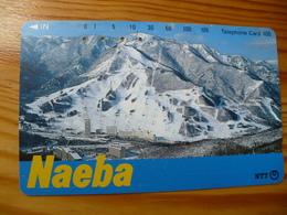 Phonecard Japan 271-132 Naeba - Japan