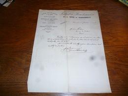 FF5  Document Commercial Facture  Roca Et Schoonheyt Marcinelle 1904 Liège En Planche Et Carrés - Belgique
