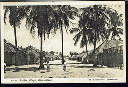 """Kenya, Ouganda & Tanganyika - 1936 - 5 C George V Sur CPA """" N° 96 - Native Village Daressalaam"""" Pour Stuttgart - B/TB - - Kenya, Uganda & Tanganyika"""