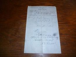 FF5  Document Commercial Facture  Pansements Accessoires Verreries JB Russel Bruxelles 1899 - Belgique