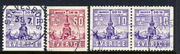 SWEDEN 1941 Skansen Museum Complete Used.  Michel  283-84A + 283 Dl/Dr - Sweden