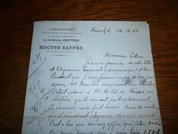 FF5  Document Commercial Facture Laboratoire Hector Saffre Péruwelz 1902 Pharmacien - Belgique
