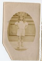 Enfant Cheveux Long Short XIX 1900 Ovale Sepia Faded Beauty Elegance Fille Girl Fashion Mode - Anonymous Persons