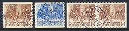 SWEDEN 1941 400th Anniversary Of Bible Translation Complete Used.  Michel  281-82A + 281 Dl/Dr - Sweden