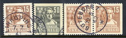 SWEDEN 1940 200th Anniversary Of Sergal Complete Used.  Michel  279-80A + 279 Dl/Dr - Sweden