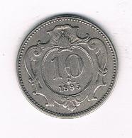 10 HELLER 1895 OOSTENRIJK /0494/ - Autriche
