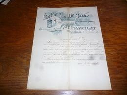 FF5  Document Commercial Facture Parfumerie Du Docteur Salp Wachtbeke 1902 Belle Lithographie Vve Plasschaert - Belgique