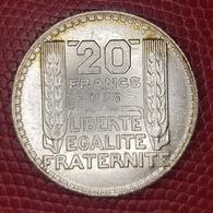 Pièce 20F TURIN 1933 Argent (silver) - Francia