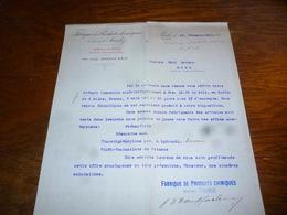 FF5  Document Commercial Facture Fabrique De Produits Chimiques Sandoz Bâle 1904 - Belgique