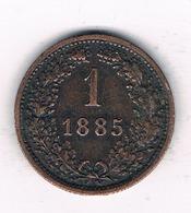 1 KREUZER 1885 OOSTENRIJK /0496/ - Autriche