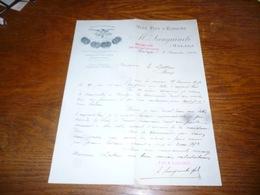 FF5  Document Commercial Facture Sanguinetti Malaga 1904 Vins FIns D'Espagne - Belgique