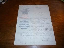 FF5  Document Commercial Facture Emm Save Bruxelles 1905 - Belgique