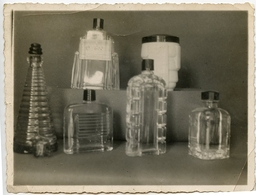 Flacon Bouteille PARFUM ? Id Verreries BEROUD  MARSEILLE Exposition Vitrine Verre Design 30s 40s - Objects