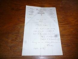 FF5  Document Commercial Facture Max Scarcez Pharmacien Lessines 189? Biberon Bandages Sirop - Belgique