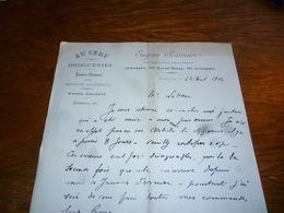 FF5  Document Commercial Facture Eugène Scarmure Au Cerf Jemappes Pharmacien Droguiste - Belgique
