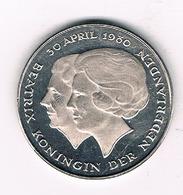 1  GULDEN 1980 NEDERLAND /0498/ - [ 3] 1815-… : Royaume Des Pays-Bas