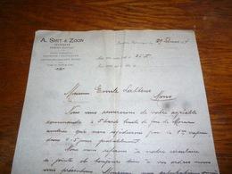 FF5  Document Commercial Facture A Smit & Zoon Amsterdam Bergen 1903 - Belgique