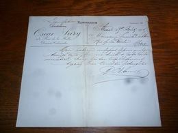 FF5  Document Commercial Facture  Distillerie Oscar Sury Thuin 1906  Mons - Belgique