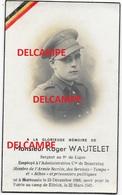Oorlog Guerre Roger Wautelet Beauraing Verzetsman Soldaat Beauraing Gesneuveld Te KZ Ellrich / D 1945 - Images Religieuses