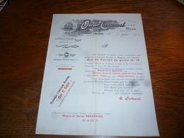 FF5  Document Commercial Facture Oscar Tertzweil Importation D'éponges Gand 1905 Out O Sight Attrape Souris - Belgique