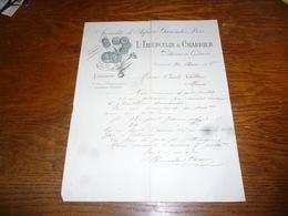 FF5  Document Commercial Facture L Thiercelin Charrier Pithiviers En Gatinais 1905 Spécialiste De Safran - Belgique