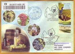 "2018 Moldova Moldavie Special Post Cancellation ""Wine Day"". Grapes. Wine. Cover - Moldavie"