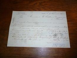 FF5  Document Commercial Facture Droguerie Emile Timmermans Bruxelles 1900 - Belgique