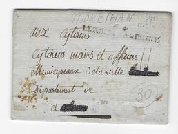 Morbihan Nom Révolutionnaire Le Port De LaLiberté 1793 Rare - Marcophilie (Lettres)