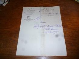 FF5  Document Commercial Facture Pharmacie A Vincent Bruxelles Onguent Du Dr Eberlay 1903 - Belgique