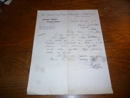 FF5  Document Commercial Facture Société Générale Des Eaux Minérales De Vittel 1903 - Belgique