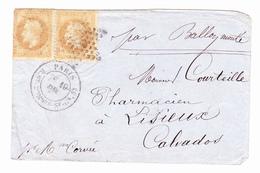 BALLON MONTE, Le Lavoisier Pour Lisieux, Calvados 19.12.1870 - 1853-1860 Napoléon III