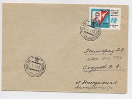 ANTARCTIC Molodezhnaya Station 8 SAE Base Pole Mail Cover USSR RUSSIA Space Cos Monaut - Bases Antarctiques