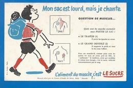 BUVARD - ENFANTS - SANTÉ - MON SAC D'ÉCOLE EST LOURD...LES MUSCLES... - Bambini