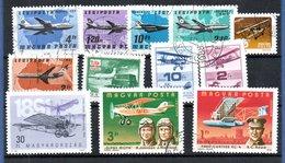 Hongrie  / Poste Aérienne / Lot De Timbres  /  Etats Divers - Gebraucht