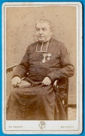 PHOTO Photographie CDV Ch. POUPAT 18 BOURGES Cher - Ecclésiastique Décoré ** Curé Abbé Religion Catholique - Old (before 1900)