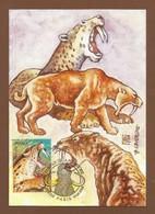 Frankreich / France  2008  Mi.Nr. 4403 , Animaux De La Prehistorie - Maximum Card - Premier Jour Paris 19.04.2008 - Maximumkarten