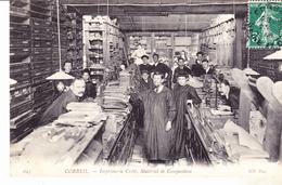 91 Corbeil Imprimerie Crété, Matériel De Composition. Animée,  Datée 1908. Tb état. - Corbeil Essonnes