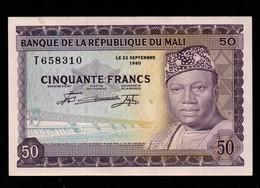 Billet De 50 Francs Banque De La République Du Mali Du 22.9.1960 Pick : 6 A - Mali