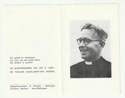 Pater Marcel SCHOLLAERT Missionaris Sint-Laureins Bree Heverlee Asse Oudergem Zaventem Walfergem-Tenberg Sjisele 1979 - Images Religieuses
